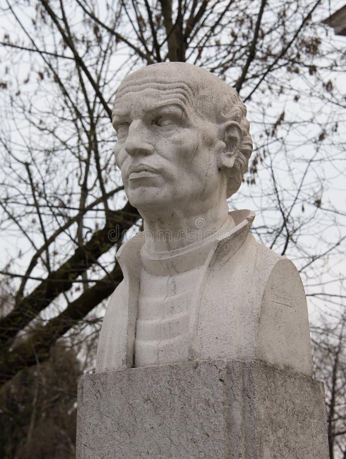 Roger Joseph Boscovich monument i Zagreb arkivbilder