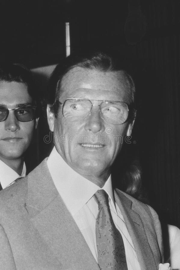 Roger Moore photographie stock