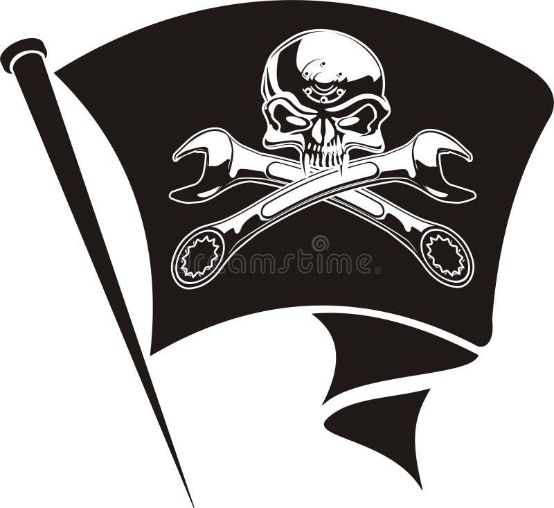 Roger silnikowe jolly bandery wektora ilustracja wektor