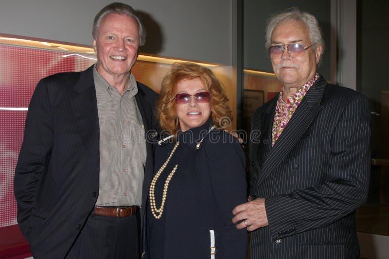 Roger Smith, Billy Wilder, Ann-Margret, Jon Voight fotografia de stock
