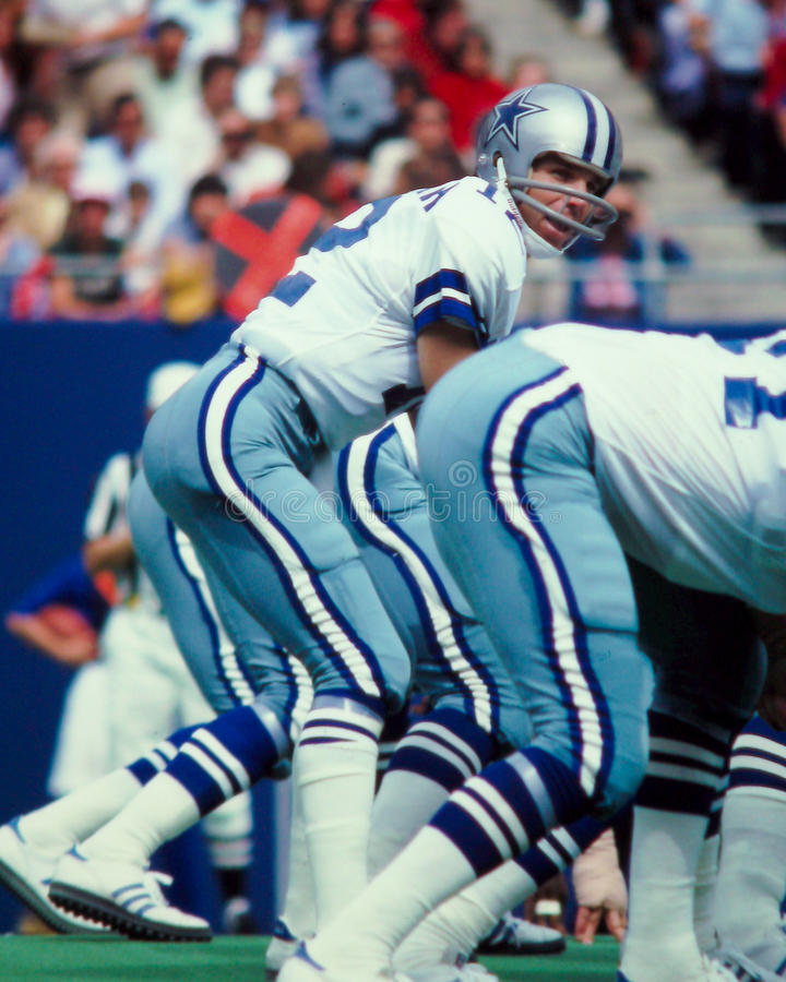 Roger Staubach Dallas Cowboys royaltyfria bilder
