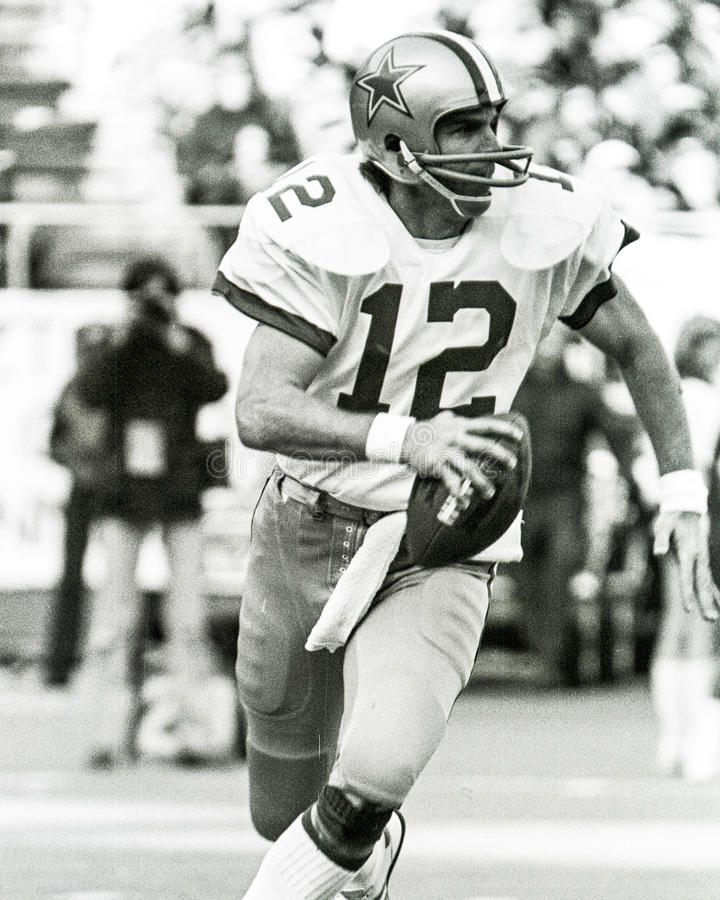 Roger Staubach Dallas Cowboys foto de stock