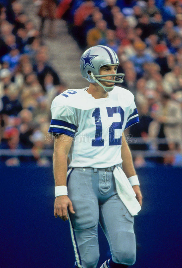 Roger Staubach Dallas Cowboys foto de stock royalty free
