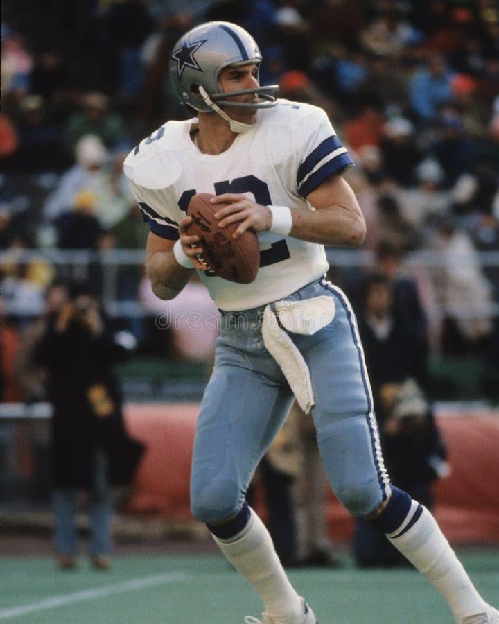 Roger Staubach Dallas Cowboys fotografia stock