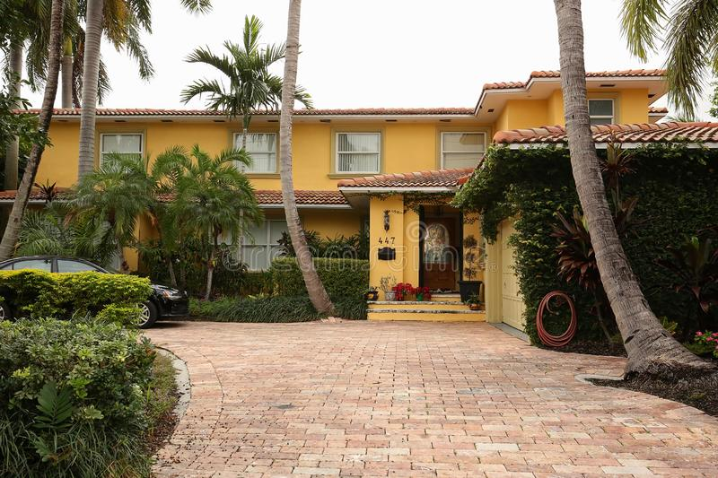 Roger Stone`s home in Fort Lauderdale, Florida. royalty free stock image