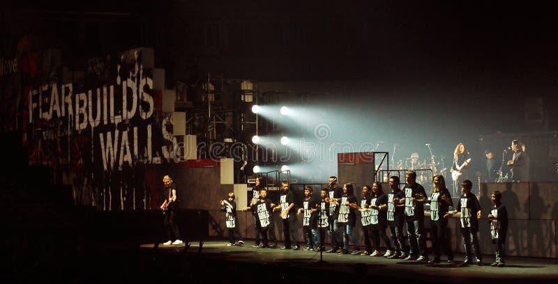 Roger Waters de concert image stock