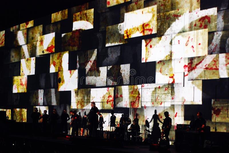 Roger Waters de concert image libre de droits
