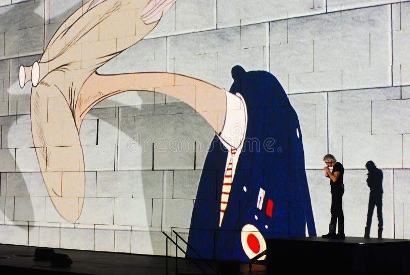 Roger Waters de concert photos stock