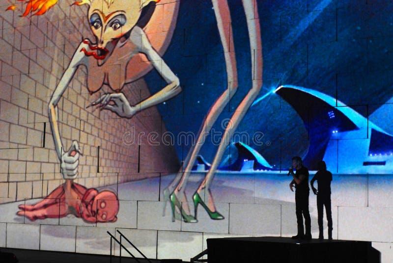 Roger Waters de concert images stock