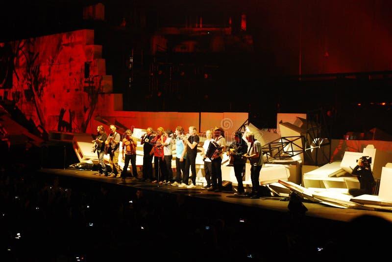 Roger Waters de concert images libres de droits