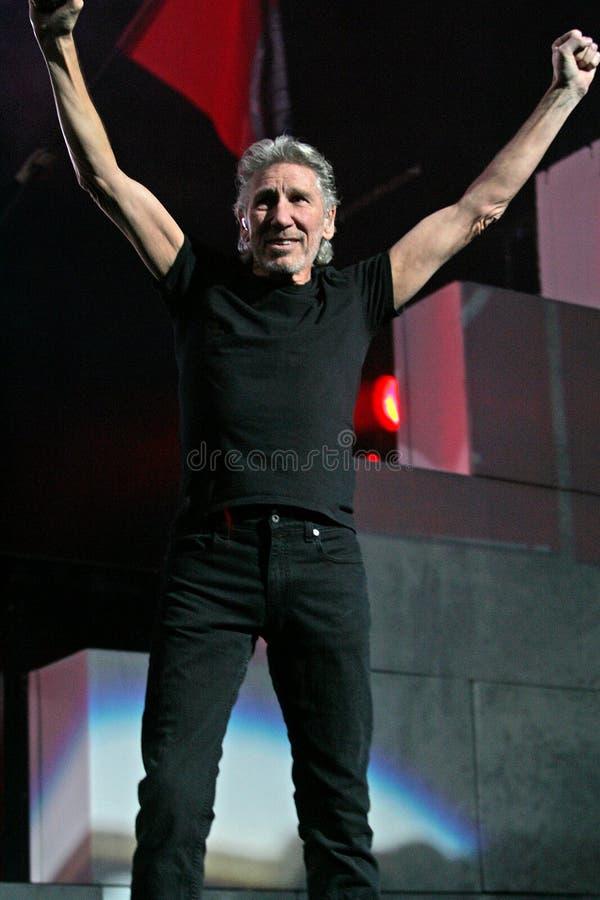 Roger Waters exécute de concert image libre de droits