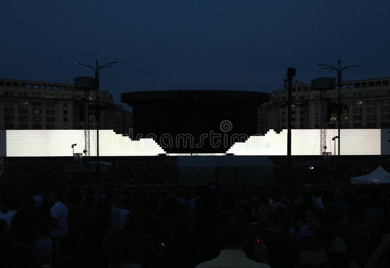 Roger Waters, le mur image stock