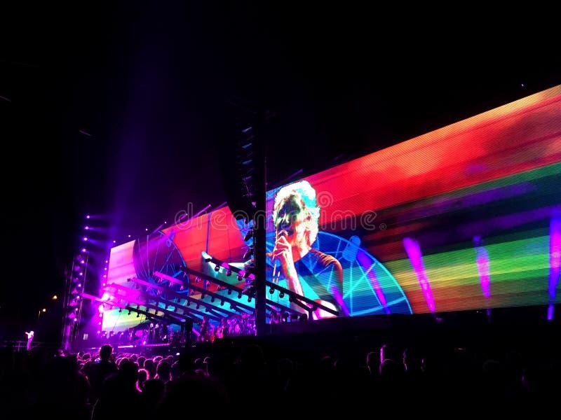 Roger Waters no concerto em Circo Massimo, Roma fotos de stock