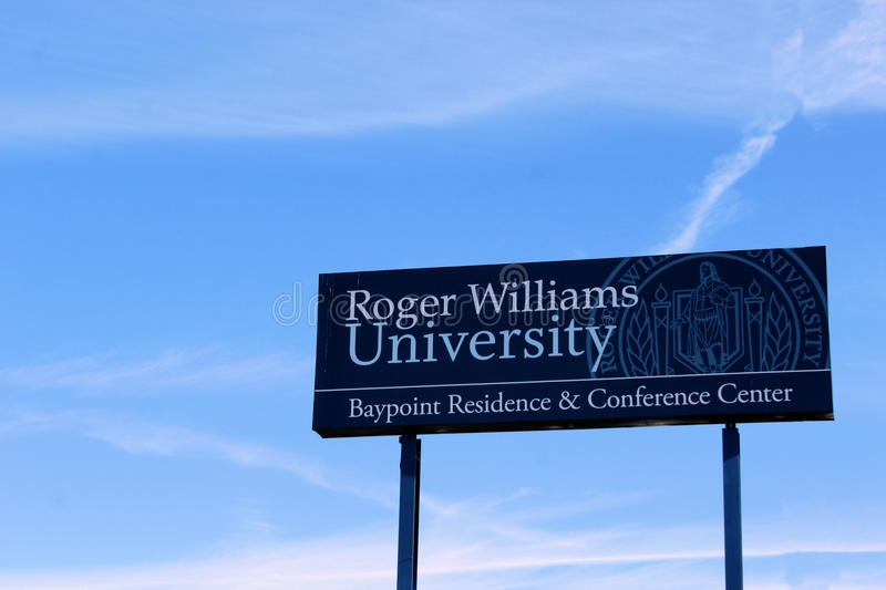 Roger Williams University Sign images stock