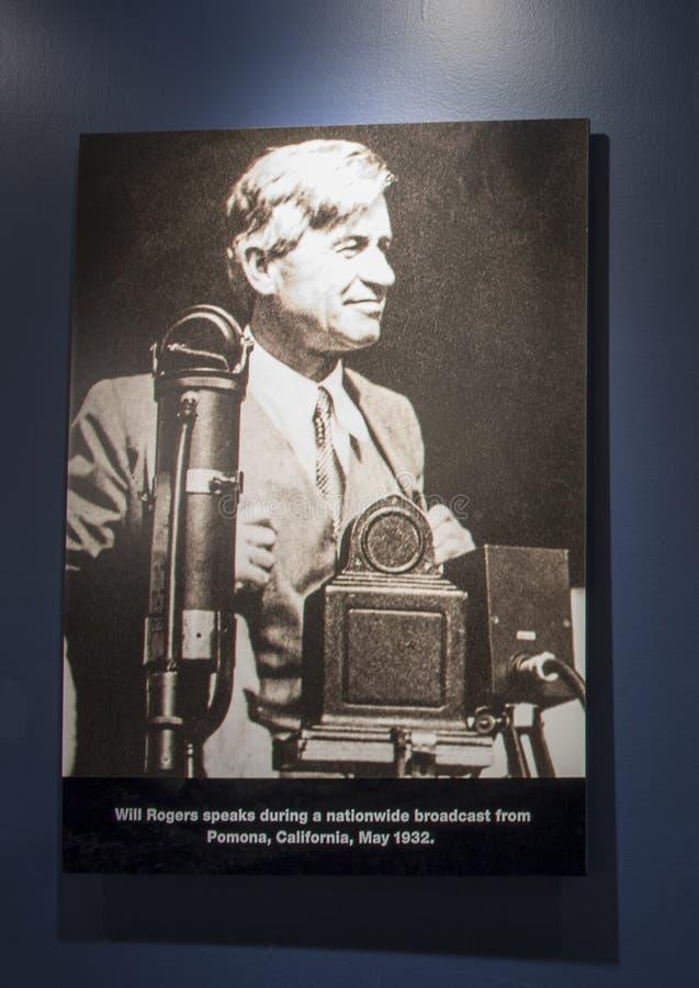 Rogers θα φωτογραφίσει τη ραδιοφωνική αναμετάδοση, Claremore, Οκλαχόμα στοκ εικόνες