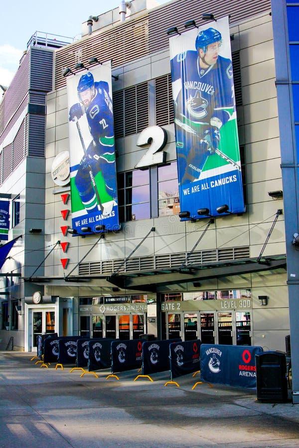 Rogers Arena, im Stadtzentrum gelegenes Vancouver, Britisch-Columbia lizenzfreie stockbilder