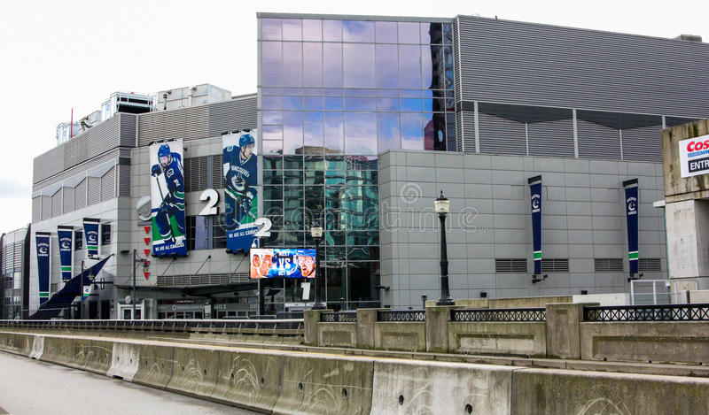 Rogers Arena, Vancôver do centro, Columbia Britânica foto de stock royalty free