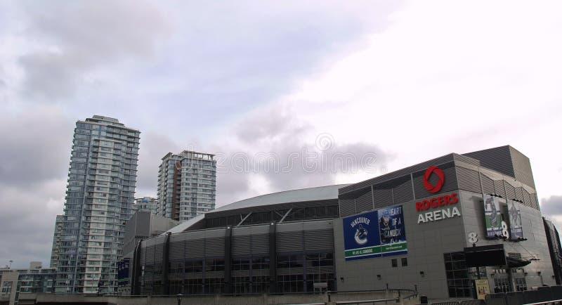 Rogers Arena a Vancouver fotografia stock libera da diritti