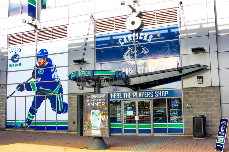 Rogers Arena, Vancouver du centre, Colombie-Britannique image libre de droits