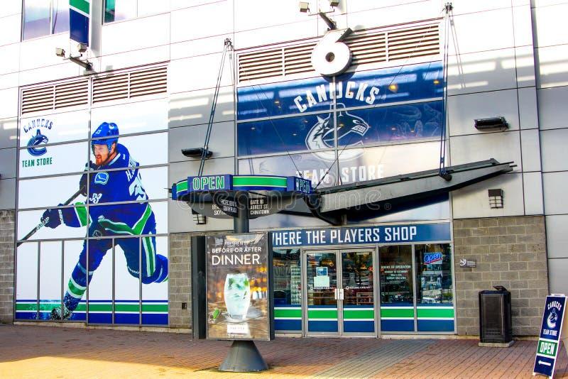 Rogers Arena, Vancouver Van de binnenstad, Brits Colombia royalty-vrije stock afbeelding