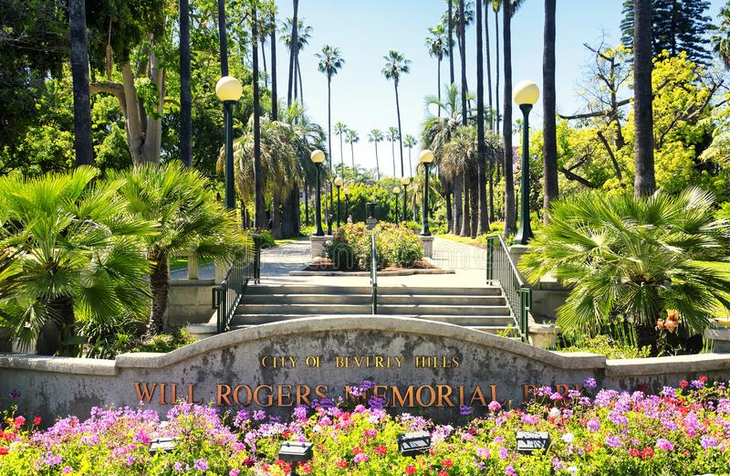 Rogers Memorial Park en Beverly Hills California photographie stock libre de droits