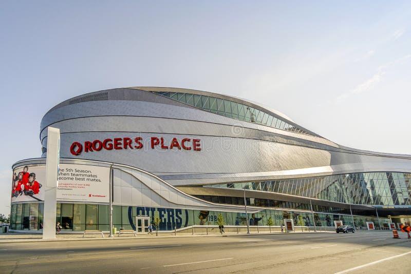 Rogers Place in Alberta, Kanada stockbilder