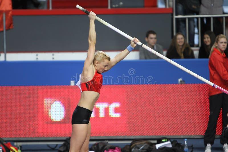 Rogowska Anna - πολωνικός πόλος vaulter στοκ εικόνες με δικαίωμα ελεύθερης χρήσης