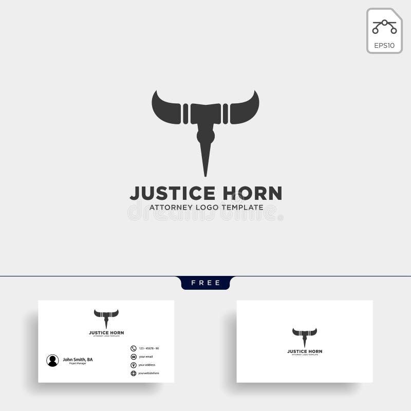 rogu byka adwokata logo linii projekta szablonu wektoru ilustracja royalty ilustracja