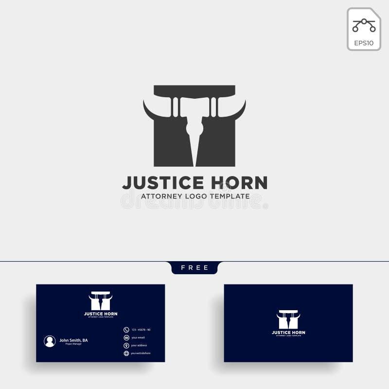 rogu byka adwokata logo linii projekta szablonu wektoru ilustracja ilustracji