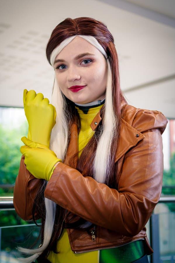 Rogue de X Men Cosplayer imagens de stock