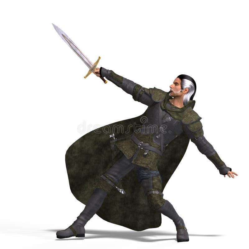 Rogue di fantasia con la spada royalty illustrazione gratis