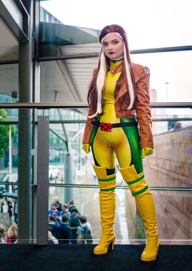 Rogue z X Men Cosplayer fotografia stock