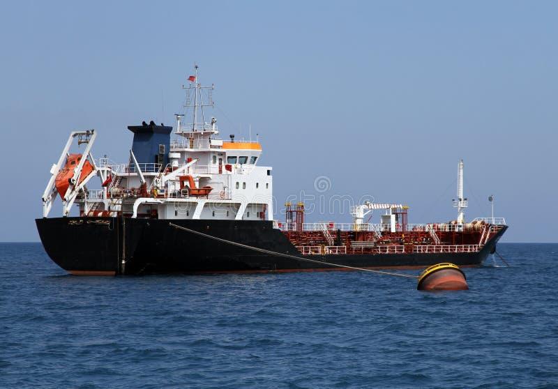 Rohöl-Trägerlieferung des Tankers stockbilder