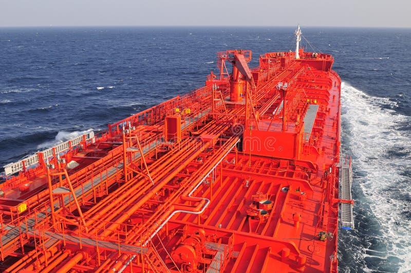 Rohöl-Trägerlieferung des Tankers lizenzfreies stockfoto