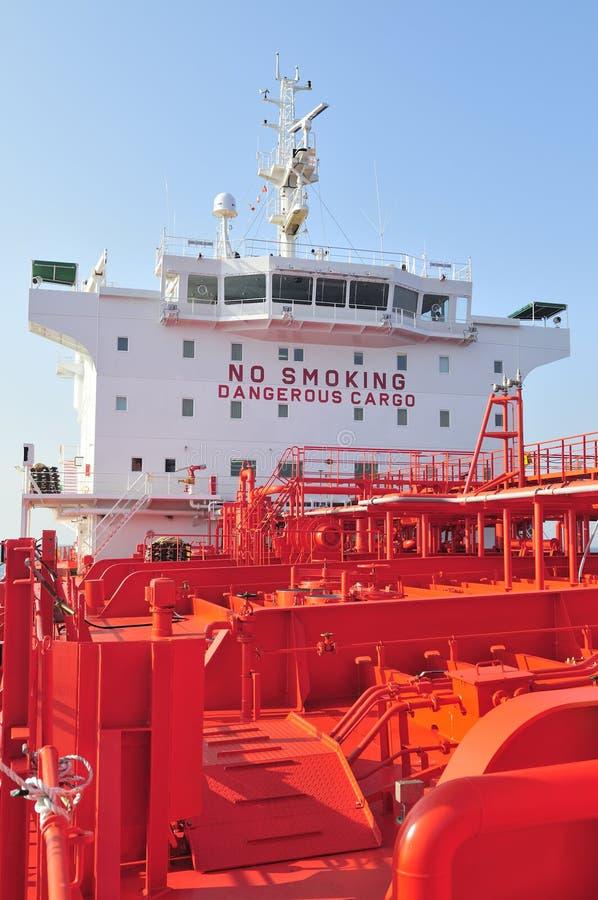 Rohöl-Trägerlieferung des Tankers stockbild