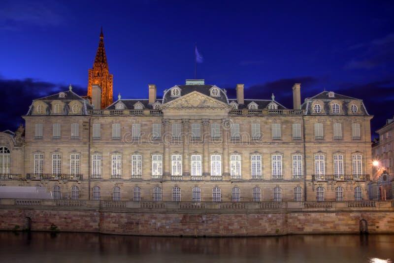Rohan pałac, Strasburg, Francja fotografia royalty free