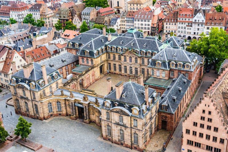 Rohan pałac w Strasburg, Francja fotografia royalty free