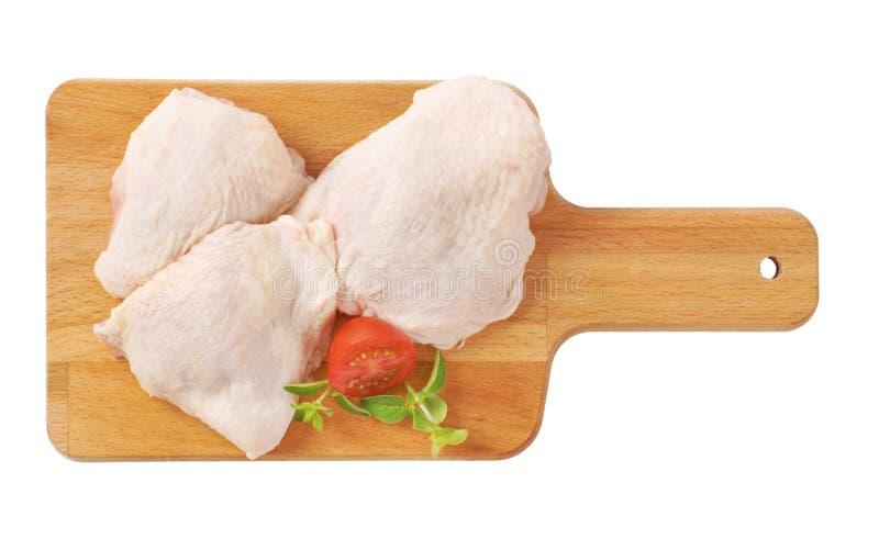 Rohe Huhnschenkel stockbild