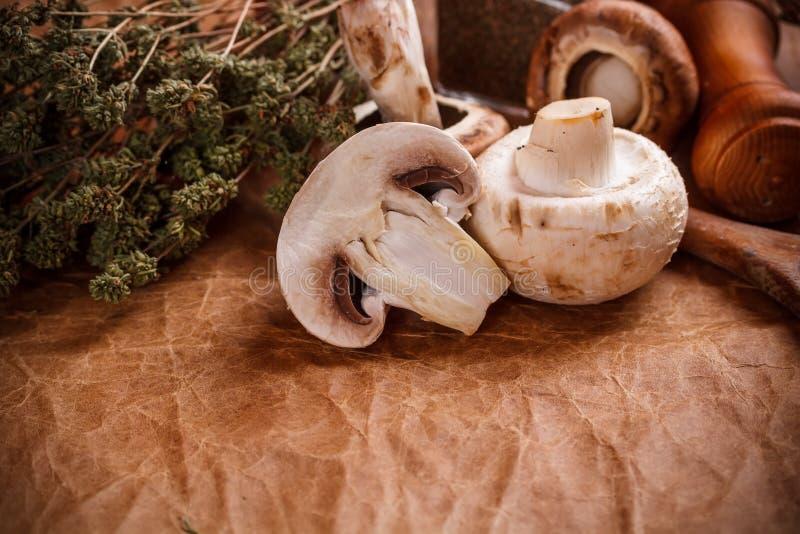 Download Rohe Pilze stockbild. Bild von vorstand, geschmackvoll - 27729731