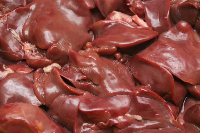 Rohe rote Leber lizenzfreie stockfotos