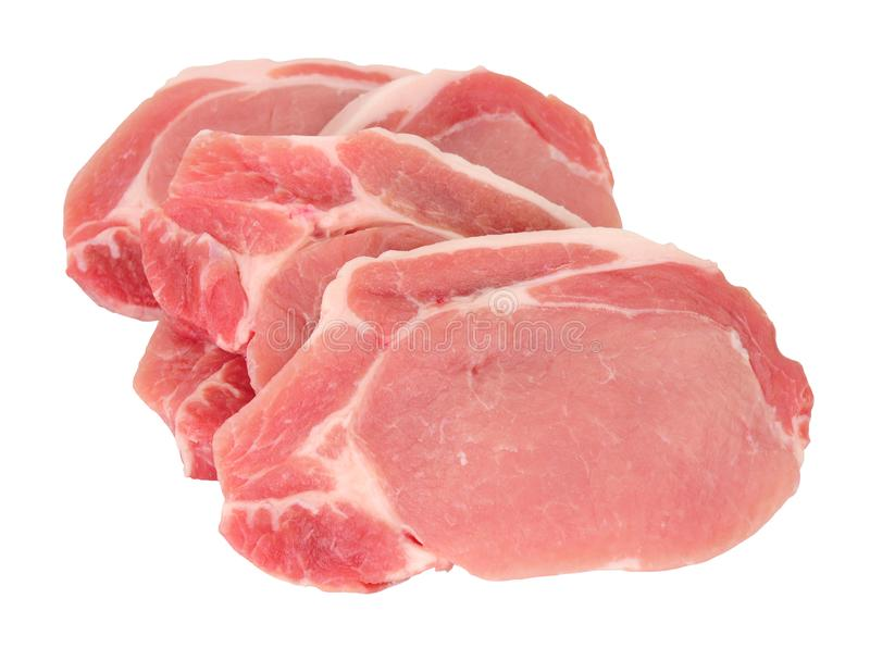 Rohe Schweinefleischsteaks lizenzfreie stockbilder