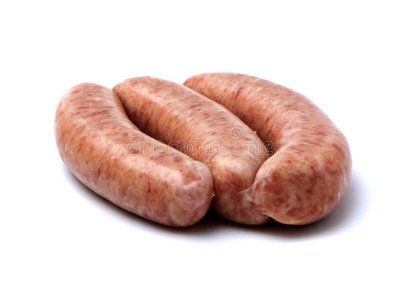 Rohe Schweinswurst lizenzfreie stockbilder