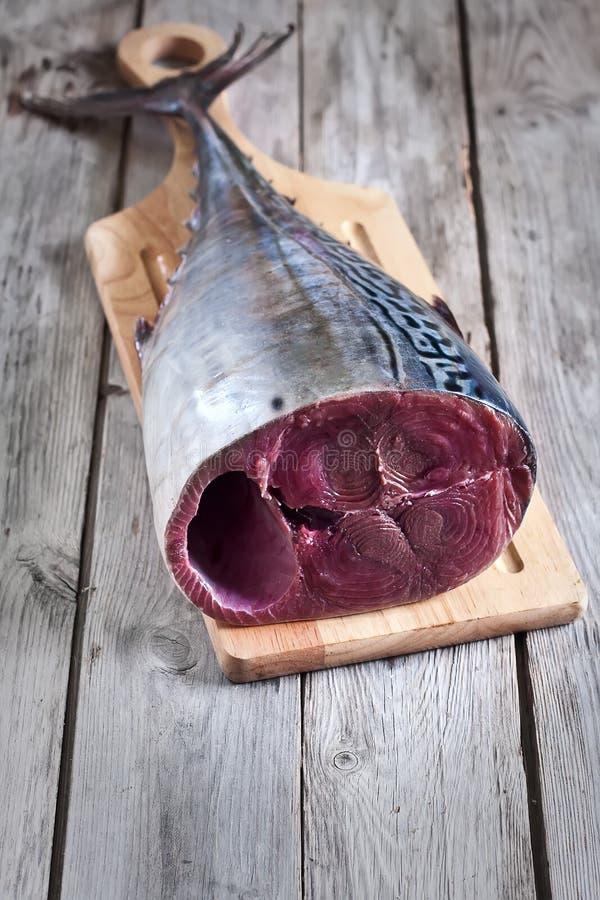 Roher Thunfisch stockfotos