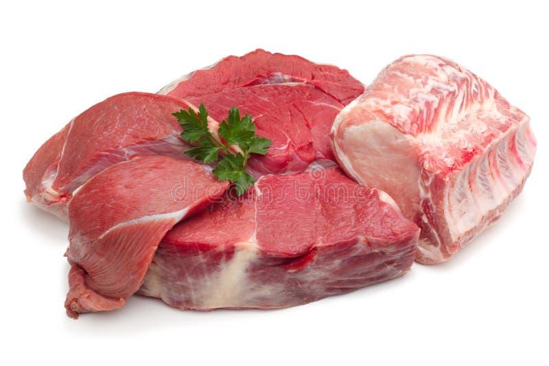 Rohes Fleisch stockbilder