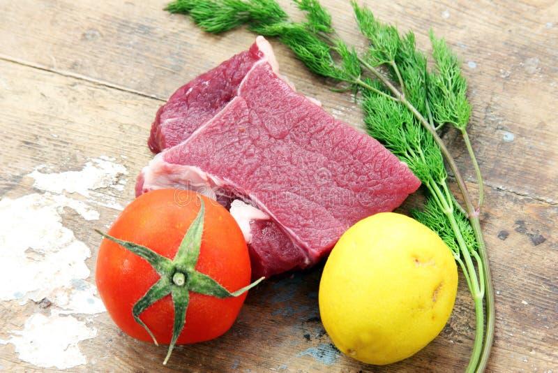 Rohes Rindfleischfleisch lizenzfreie stockfotografie