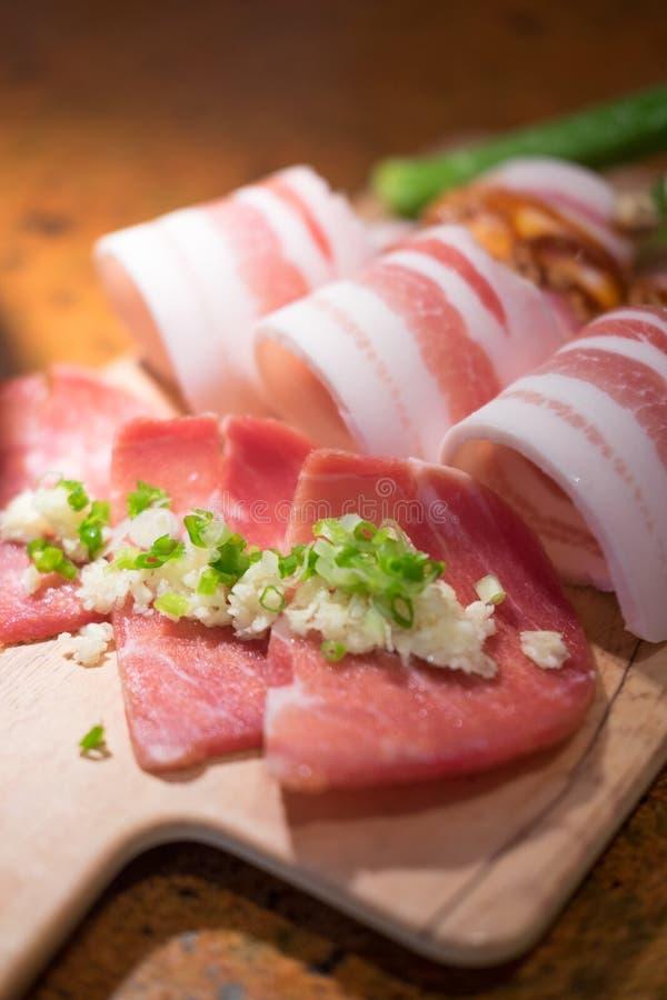Rohes Schweinefleisch der erstklassigen Scheibe lizenzfreie stockbilder