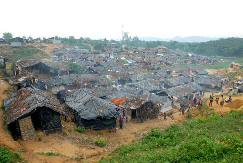 Rohingyavluchtelingen in Bangladesh royalty-vrije stock foto