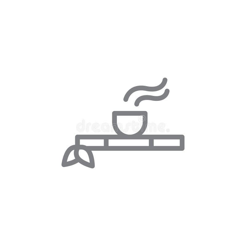 Rohr der Friedensentwurfsikone Elemente der rauchenden T?tigkeitsillustrationsikone Zeichen und Symbole k?nnen f?r Netz, Logo, Mo lizenzfreie abbildung