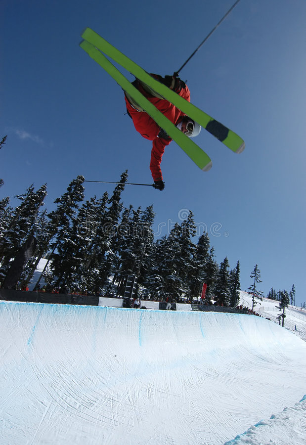 Rohr-Skifahrer stockfotos