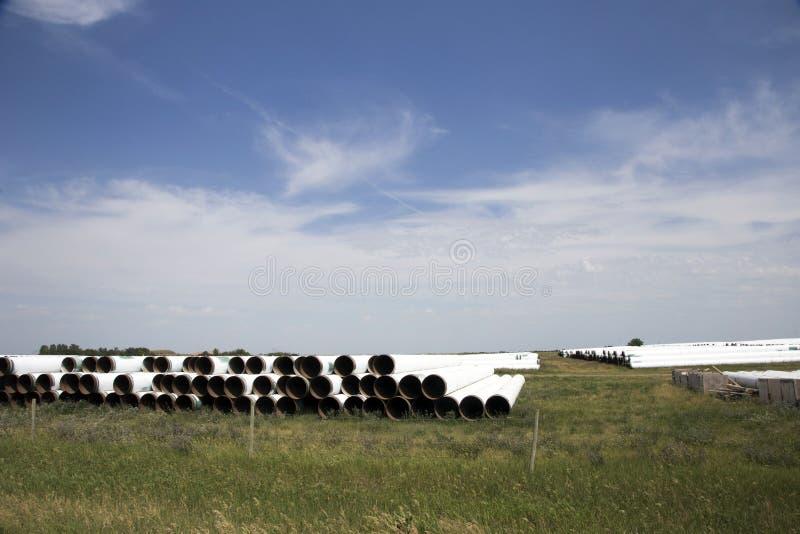 Rohr von der Rohrleitung gestapelt stockfotografie